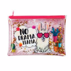 Picture of Llama Trendy Glitter Pencil Pouch