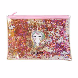 Picture of Unicorn Trendy Glitter Pencil Pouch
