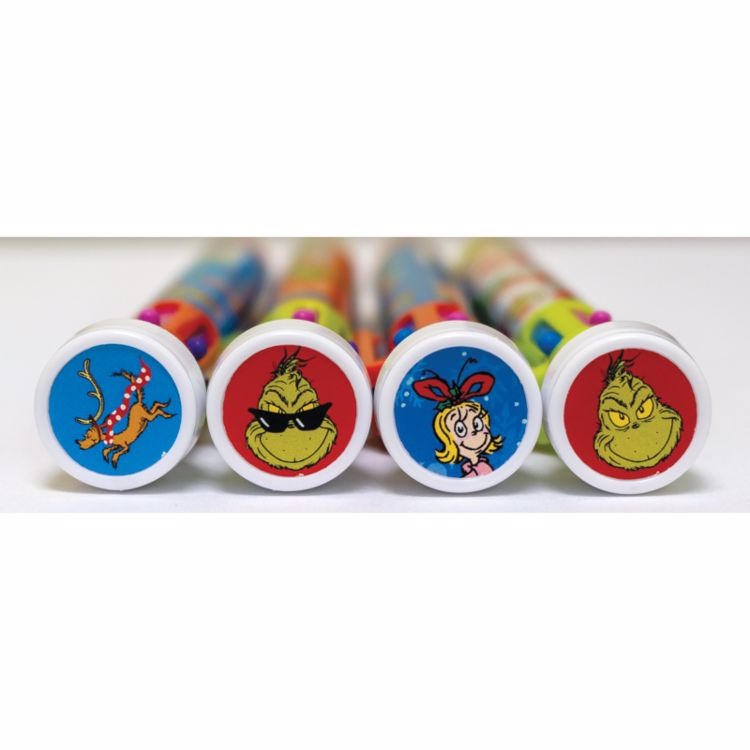 Picture of Grinch 6 Color Pens With Stamper