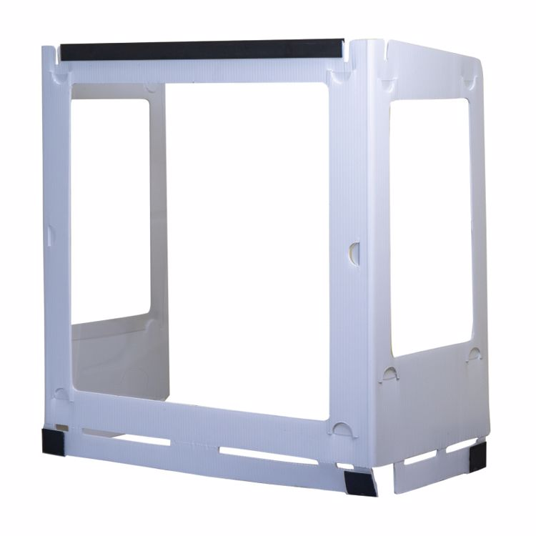 Picture of Deluxe Plastic Desk Shield With 3 Windows