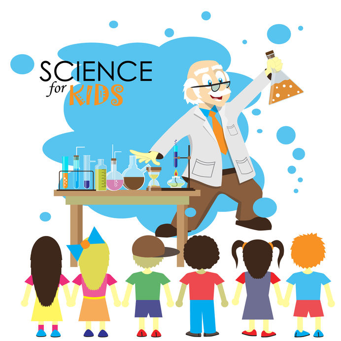 Science for kids. Kitchen science experiment for children.