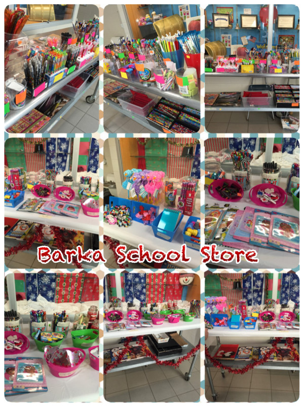 School store merchandise at Barka P Elementary