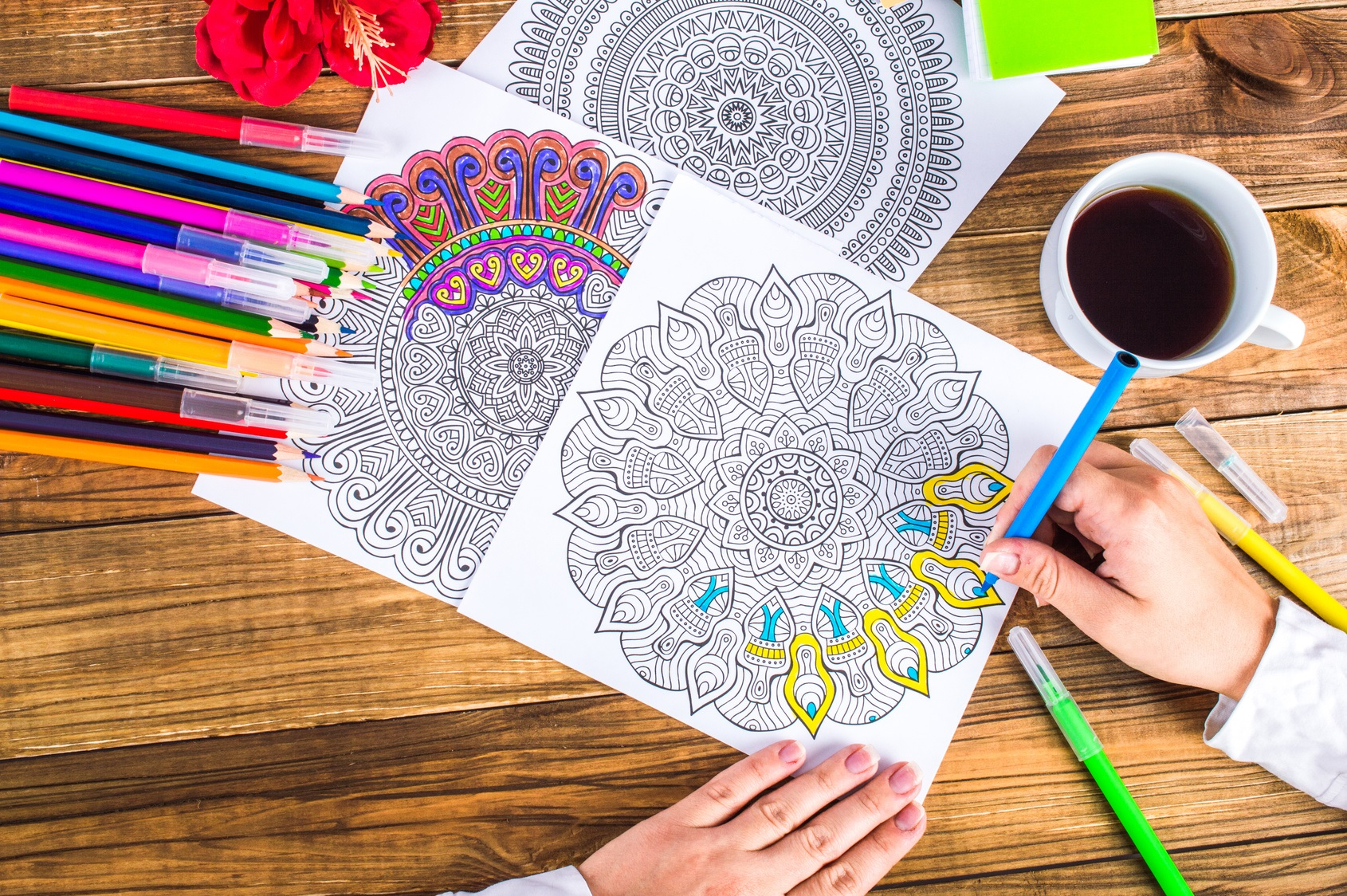 Relax by coloring