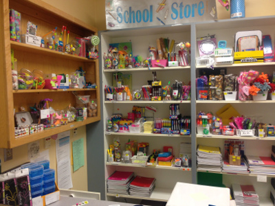 School store merch at Ellicot Mills Middle School