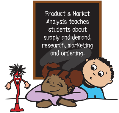 Product & Market Analysis teaches students about supply and demand, research, marketing and ordering.