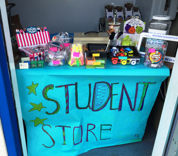 School store at Roynon Elementary