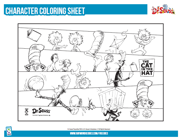 photograph about Cat in the Hat Printable Activities titled Dr. Seuss Printable Actions Retail outlet GEDDES