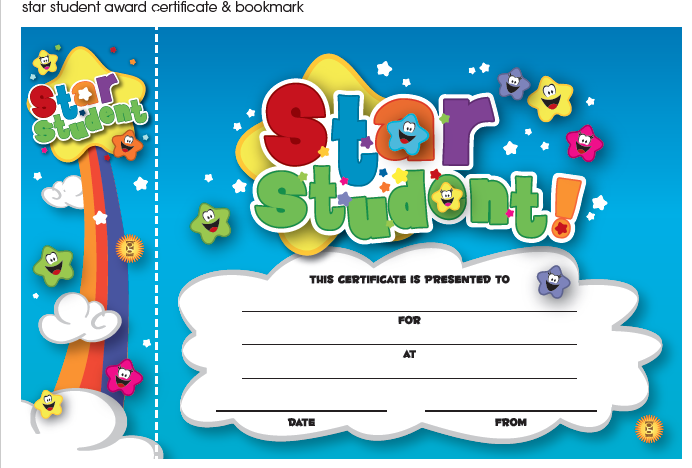 Star Student Certificate and Bookmark Freebie Download