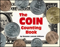 The cover of the book, The Coin Counting Book.